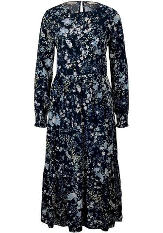 TOM TAILOR Ilga suknelė su Volants su gėlių raštu...