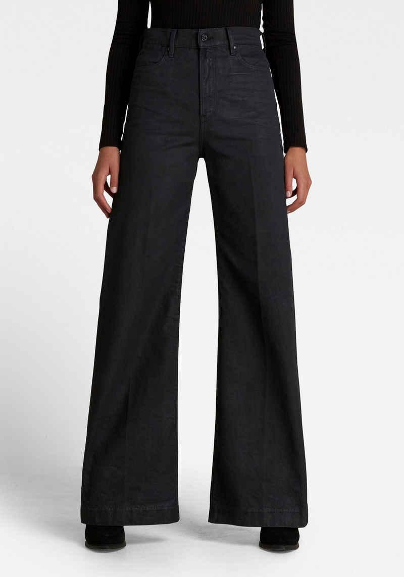 G-Star RAW High-waist-Jeans »Jeans Deck Ultra High Wide Leg« mit angesagten weiten Beinverlauf