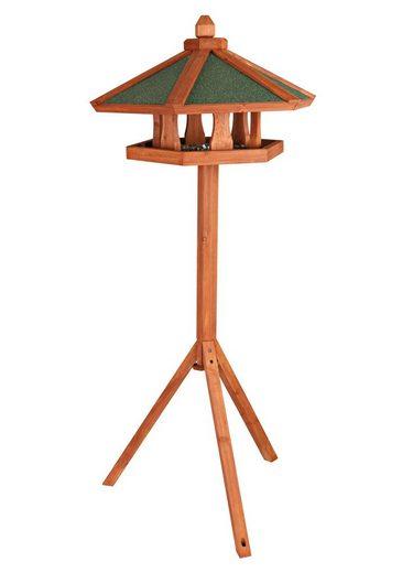 TRIXIE Vogelhaus »Pyramide«, braun/grün, mit Standbein, B/T/H: 65/65/145 cm
