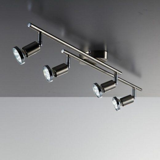 B.K.Licht LED Deckenspot »Mika 4«, LED Deckenleuchte Wohnzimmer schwenkbar inkl. 3W GU10 Metall Deckenstrahler