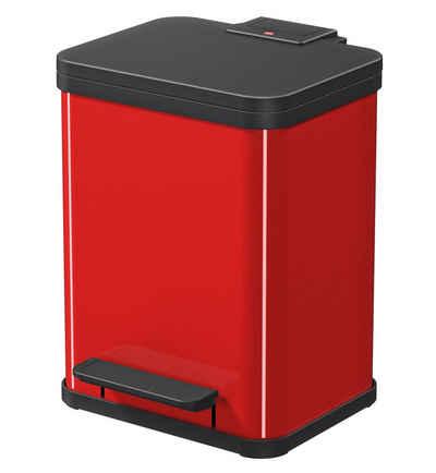 Hailo Mülleimer »Öko Duo Plus M«, rot, Fassungsvermögen ca. 2x 9 Liter