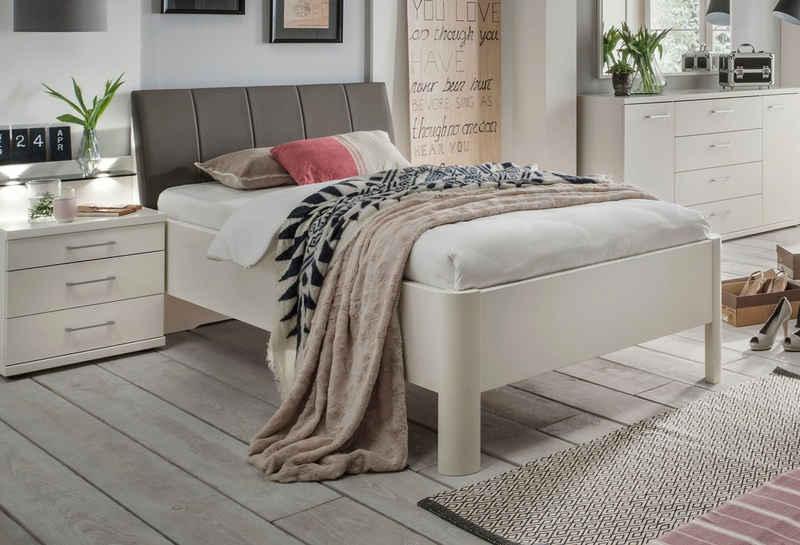 WIEMANN Bett »Bern«, mit Rundfüße und Polsterkopfteil