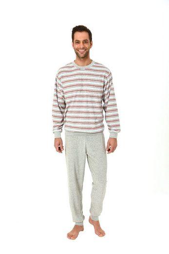 Normann Pyjama »Eleganter Herren Frottee Pyjama Schlafanzug lang mit Bündchen – auch in Übergrössen 61505«
