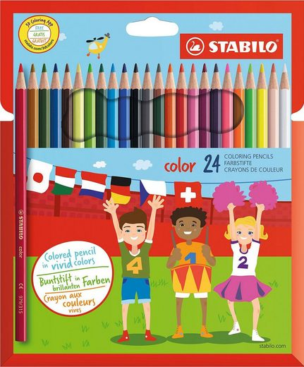STABILO Dekorierstift »Buntstifte color, 24 Farben«
