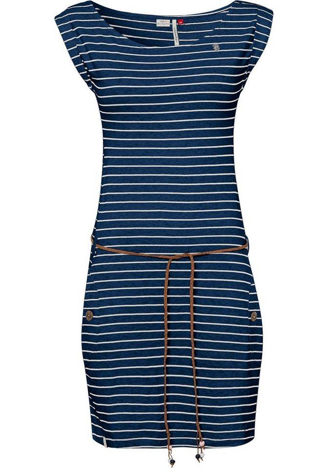 ragwear -  Jerseykleid »TAG STRIPES O« (2-tlg., mit Bindegürtel) im Streifen-Ringel-Design
