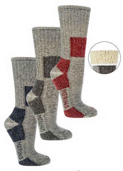 Socks 4 Fun Wandersocken »Trekking Wandersocken 85% Merinowolle 1 Paar« (1-Paar, 1 Paar)