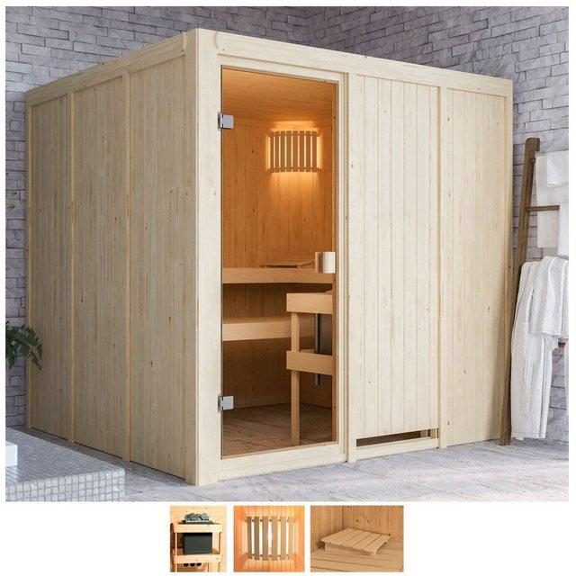 Saunen und Zubehör - Karibu Sauna »Omari«, BxTxH 196 x 196 x 198 cm, 68 mm, ohne Ofen  - Onlineshop OTTO