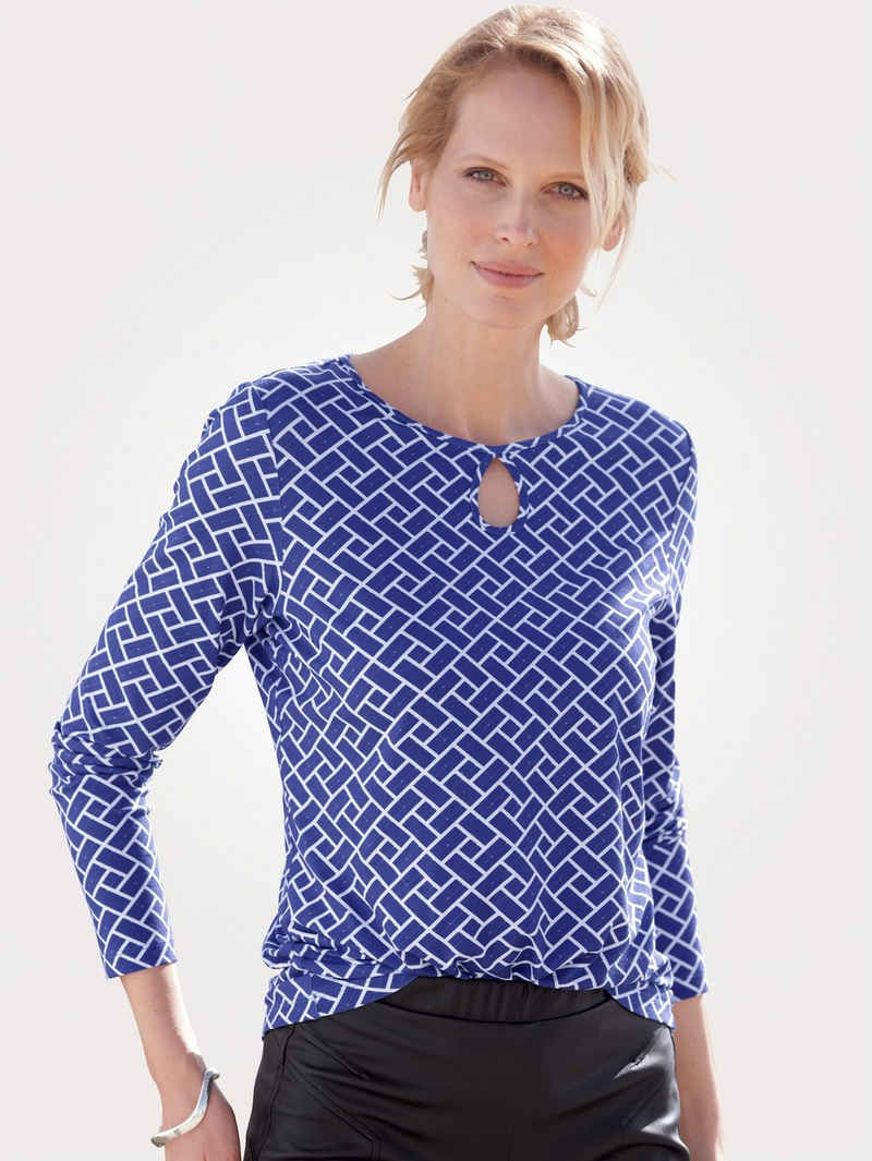 Mona Langarmshirt mit attraktivem Ausschnitt
