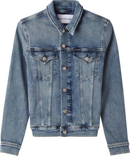 Calvin Klein Jeans Jeansjacke »FOUNDATION DENIM JACKET« in Used-Waschung