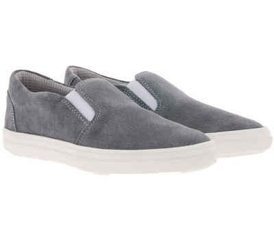 Richter »RICHTER Slipper schöner Kinder Echtleder-Schuhe Turn-Schuhe im schlichten Design Grau« Slipper