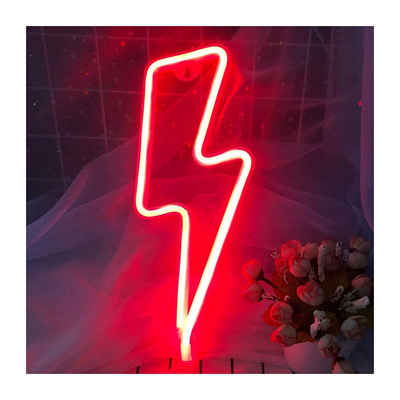 kueatily LED Nachtlicht »LED Blitz Neonlicht - USB batteriebetrieb Nachtlicht für Wanddekoration Kinder Zimmerdekoration, LED Deko Neon Lampe Lichter für Bar Partys Kinderzimmer Schlafzimmer«