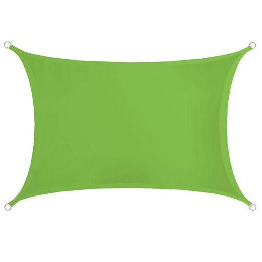 AMANKA Seilspannsonnensegel »Sonnensegel Kalahari Hellgrün 3x2m Polyester«, Wasserabweisend wetterf. 3x2m
