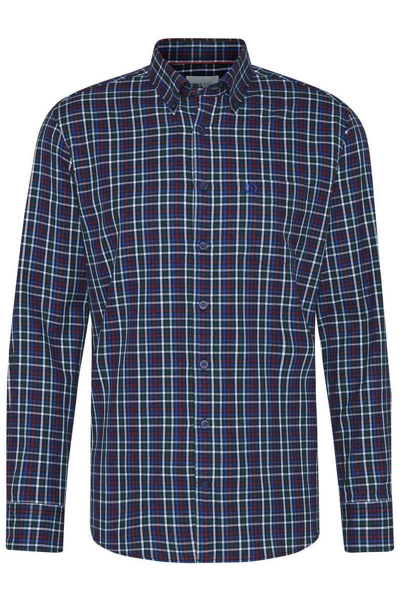 bugatti Langarmhemd aus reiner Baumwolle