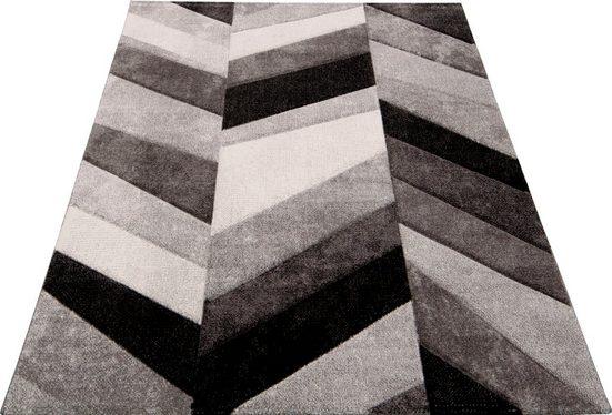 Teppich »BELIS PARKETT«, merinos, rechteckig, Höhe 13 mm, handgearbeiteter Konturenschnitt, Wohnzimmer