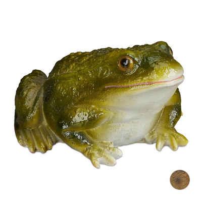 relaxdays Gartenfigur »Gartenfigur Frosch Kunststein«