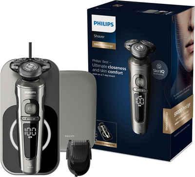 Philips Elektrorasierer SP9860/16, Aufsätze: 2, mit Nano-Tech Präzisionsklingen, Bartstyler, Qi-Ladepad