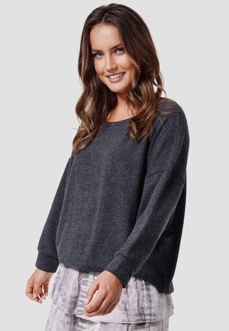 Cotton Candy Sweatshirt »WIAM« mit weitem Rundhals-Ausschnitt