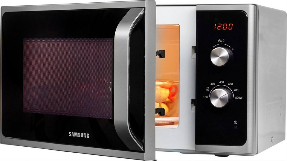 Samsung MS23F300EES//EG Mikrowelle 800 W LED-Display Auftaufunktion Schwarz