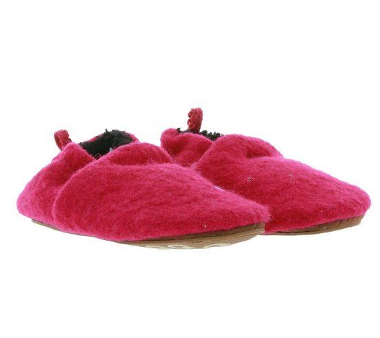MAXIMO »maximo Filz-Schuhe bequeme Baby Haus-Schuhe mit Gummizugbund Lauflern-Schuhe Pink« Lauflernschuh