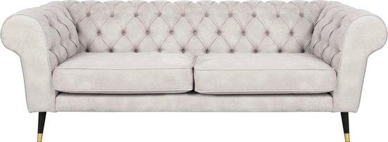 Leonique 3-Sitzer »Wales«, unifarben im Baumwollmix oder im Blätterprint