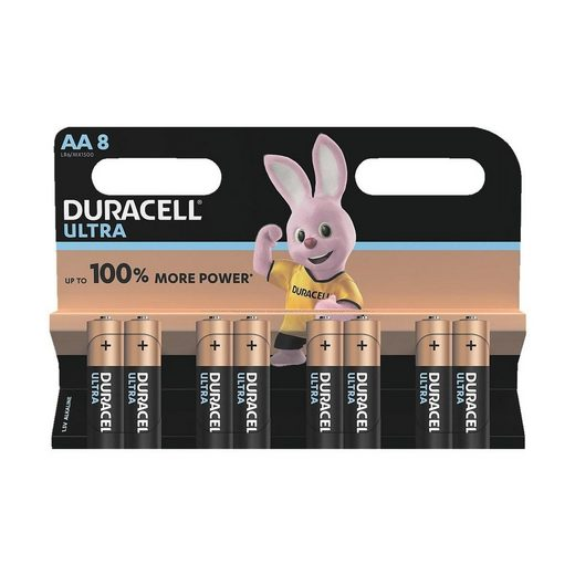 Duracell »ULTRA« Batterie, (8 St), AA, lange Lebensdauer