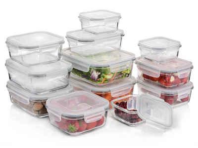 SÄNGER Frischhaltedose »Frischhaltedosen«, Glas, (24-tlg), Kein Auslaufen,mit Dampfventil