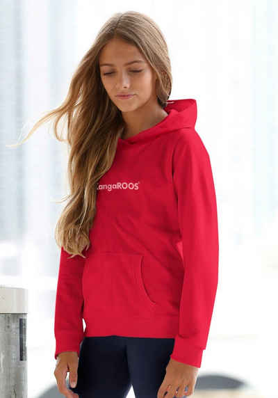 KangaROOS Kapuzensweatshirt mit Flockdruck