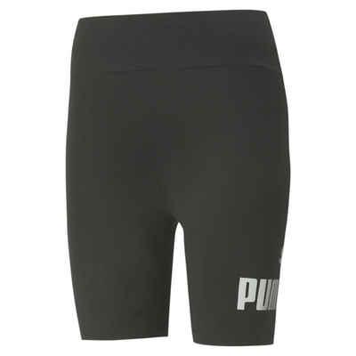 PUMA Leggings »Essentials+ Metallic Damen Radlerhose«