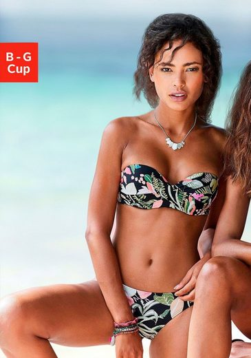 s.Oliver Beachwear Bandeau-Bikini-Top »Herbst«, mit floralem Design