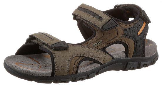 Geox »UOMO SANDAL STRADA« Sandale mit Fersenriemchen als Klettverschluss