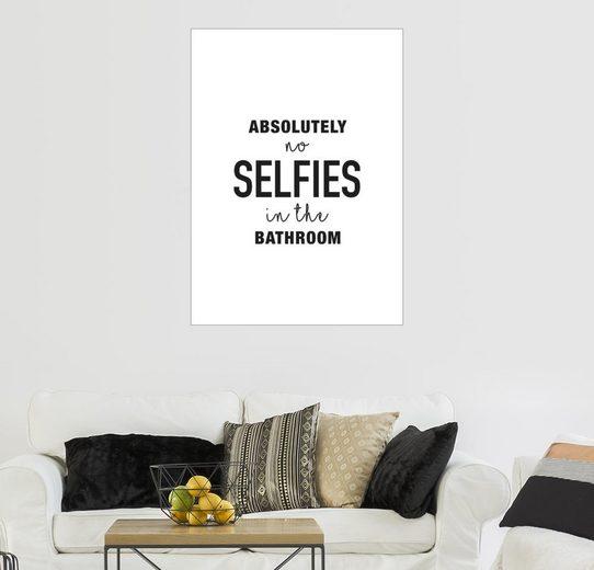 Posterlounge Wandbild, No selfies in the bathroom