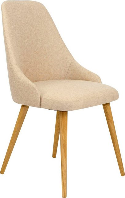 Stühle und Bänke - Home affaire Polsterstuhl »Luz« (Set, 2 Stück), aus massiver Eiche natur  - Onlineshop OTTO