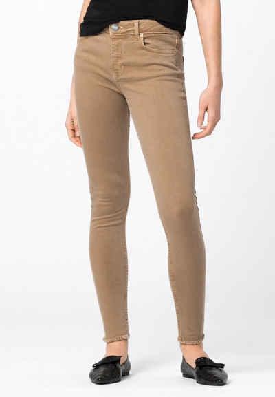 HALLHUBER Regular-fit-Jeans »MIA mit Fransensaum«