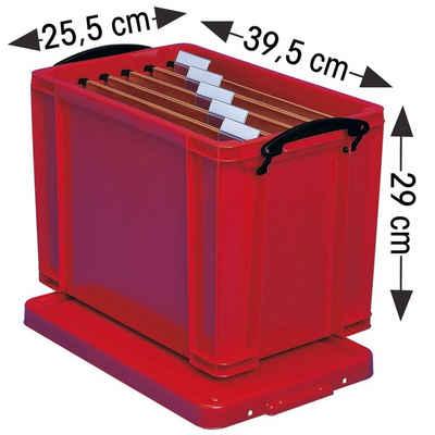 REALLYUSEFULBOX Aufbewahrungsbox, 19 Liter, verschließbar und stapelbar