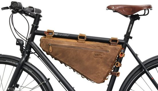 Gusti Leder Rahmentasche »Roger V.«, Rahmentasche Fahrradtasche Ledertasche Vintage Braun Leder