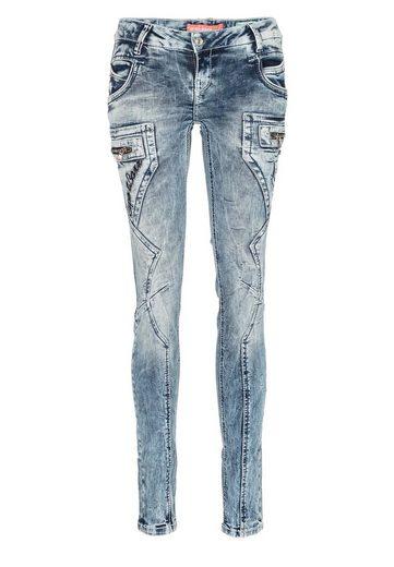 Cipo & Baxx Slim-fit-Jeans »Cb Baxx« mit niedrige Taille in Skinny Fit