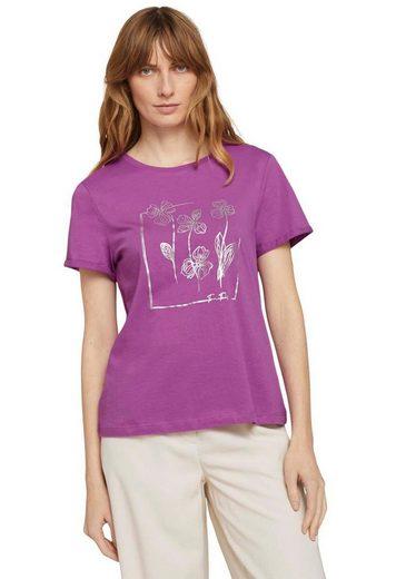 TOM TAILOR T-Shirt mit diversen floralen Prints