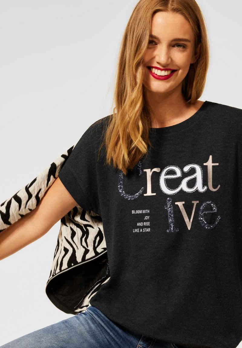 STREET ONE T-Shirt mit Wording-Print