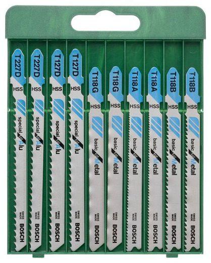BOSCH Set: Stichsägeblätter für Metall, T-Schaft, 10-tlg.