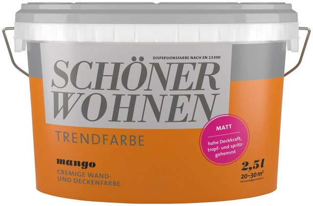 Schöner Wohnen Trendfarbe mango matt 2,5 L