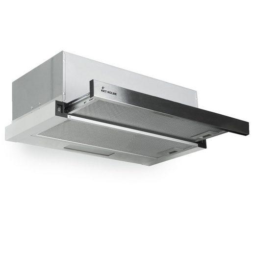 KKT KOLBE Unterbauhaube Dunstabzugshaube 60cm TEL350, 60cm / Edelstahl / LED-Beleuchtung / inklusive Fettfilter / Abluft oder Umluft