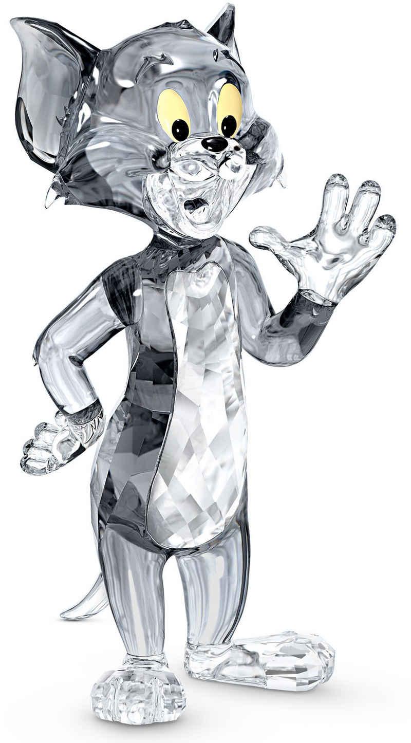 Swarovski Comicfigur »Tom und Jerry, Tom, 5515335« (1 Stück), Swarovski® Kristall mit schwarzem Emaille