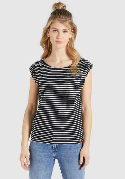 khujo T-Shirt »KAROLA« mit süßen Knopf-Details an den Schultern