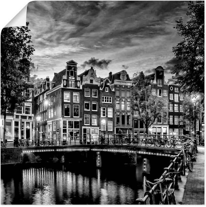 Artland Wandbild »Amsterdam Abendidylle«, Amsterdam (1 Stück), in vielen Größen & Produktarten - Alubild / Outdoorbild für den Außenbereich, Leinwandbild, Poster, Wandaufkleber / Wandtattoo auch für Badezimmer geeignet