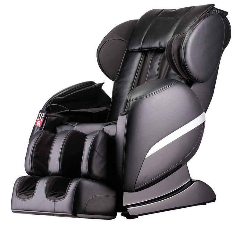 HOME DELUXE Massagesessel »Siesta V2« (1-St), Ganzkörpermassage, inkl. komplettem Zubehör I Relaxsessel Fernsehsessel Heizsessel