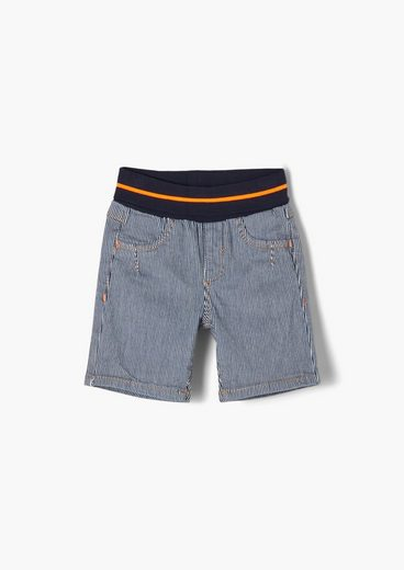 s.Oliver Shorts »Streifen-Shorts mit Umschlagbund« (1-tlg)