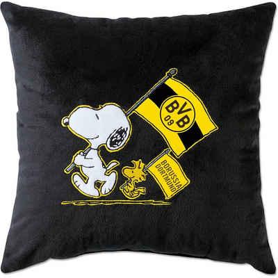 Borussia Dortmund Dekokissen »BVB-Snoopy Kuschelkissen schwarz (38x38cm)«