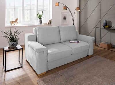 Home affaire Polstergarnitur »Tiny November«, (3-tlg), Verwandlungsofa: 2 Hocker im Sofa integriert, können separat gestellt werden, Sitzbreite 140 cm