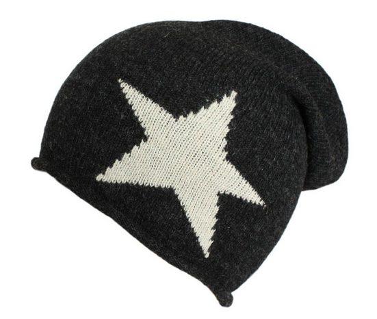 Sonia Originelli Beanie »Mütze aus Wolle mit Stern Motiv super weich und kuschelig« Strickbeanie mit Wollanteil