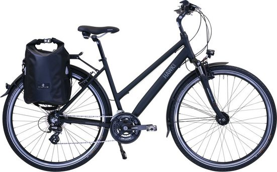 HAWK Bikes Trekkingrad »HAWK Trekking Lady Premium Plus Black«, 24 Gang Shimano Altus Schaltwerk